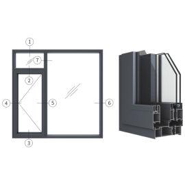 创高GL120W14A系列窗纱一体隔热外平开窗