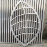 古式祠堂造型鋁花格門窗 不規則造型鏤空鋁窗花