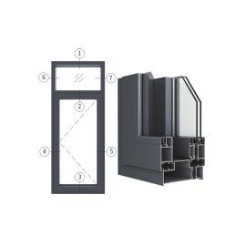 创高GL150W14A|B系列窗纱一体隔热外平开窗