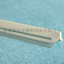 厂家大量供应PC异形材 双色M型订制异型材 挤出双色管