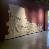 梅州革命主题雕塑 玻璃钢人物浮雕雕塑