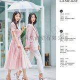 品牌折扣女装朗美睿时尚精致棉衣货源市场