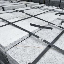 光面芝麻白常规板 抛光磨面白麻平板