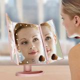 爆款三面镜 led化妝鏡带灯