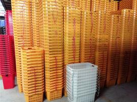 梁平县塑料筐蔬菜周转筐周转箱带铁柄塑料箱