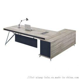 现代班台老板桌经理办公桌椅主管单人办公家具