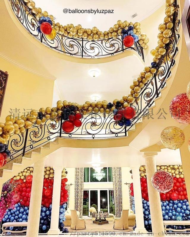 清远满月百天宝宝宴生日派对别墅布置房间布置