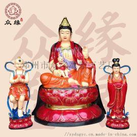 观音菩萨的由来 极彩青衣观音佛像 精美彩绘佛像