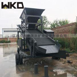 广东供应移动式滚筒筛沙机 时产量80方筛沙机视频