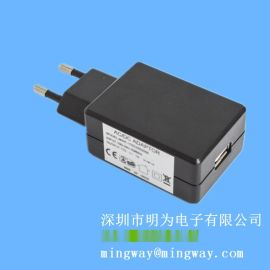 欧规插墙式12VDC 1A欧规直流电源适配器