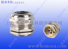 黄铜镀镍屏蔽电缆防水接头 EMC防电磁电缆接头