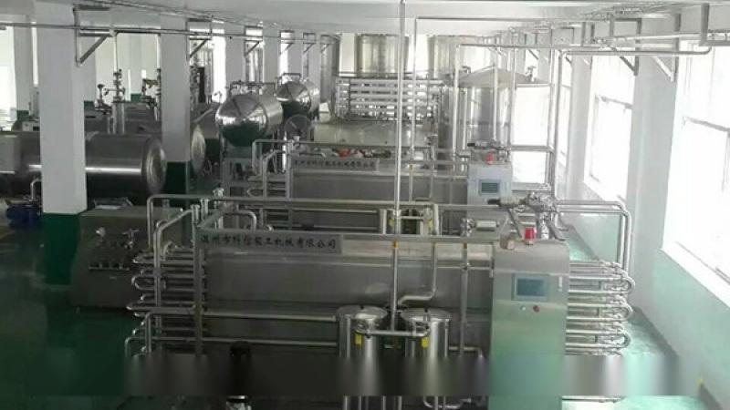 杏仁露(易拉罐)飲料生產線(2000罐)小型杏仁露飲料加工設備 杏仁露整套製作設備廠家