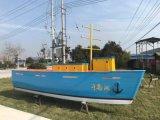 杭州千島商家賣魚片的景觀裝飾木船船型吧檯貨架船
