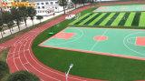 湘潭13mm混合型跑道学校透气型跑道塑胶跑道效果图