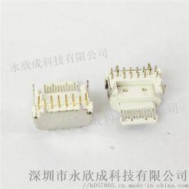 Type-c母座PD快充16Pin板上型四脚插板