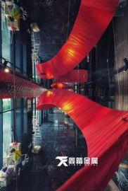 吊顶天花艺术不锈钢飘带雕塑 创意造型飘带
