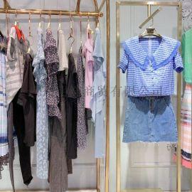 广州明浩长期供应折扣女装世纪蓝天品牌直播货源