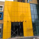 门头造型烤漆铝单板 门头雨棚金色铝单板