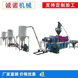 PVC塑料造粒机 风冷热切塑料颗粒生产线