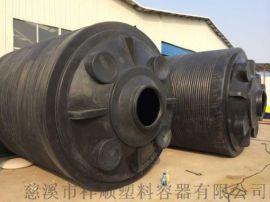 8吨化学工程配套塑料水塔,8000升腐蚀溶液暂存桶