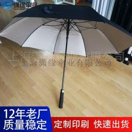 直把自动高尔夫伞广告伞、27寸X8骨直柄纤维伞架自动高尔夫伞