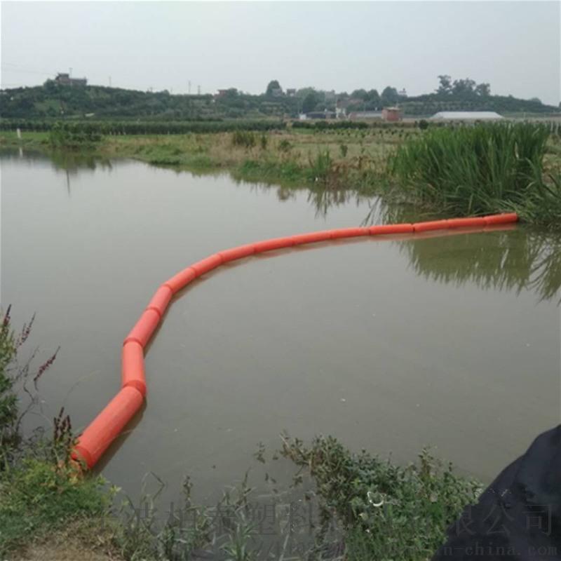 水庫前池攔污柵清污必選塑料浮筒