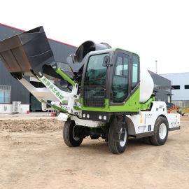 建筑工地混泥土搅拌车 水泥自动上料搅拌运输一体车
