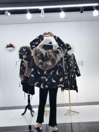 派克服女新款时尚中长款羽绒衣女韩版潮流棉袄外套