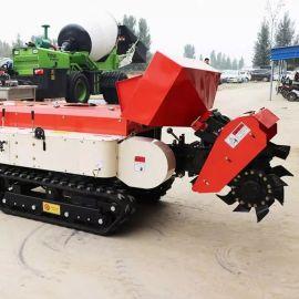 多功能田园管理机 沃特机械 山区丘陵果园履带拖拉机