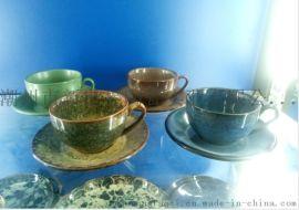 2020新品 欧式咖啡杯 窑变釉 陶瓷咖啡杯碟
