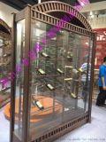 鈦金不鏽鋼紅酒櫃定製專業生產弧形不鏽鋼酒架