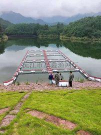 水上养鱼网箱平台,钢结构养鱼设备,水产养殖网箱