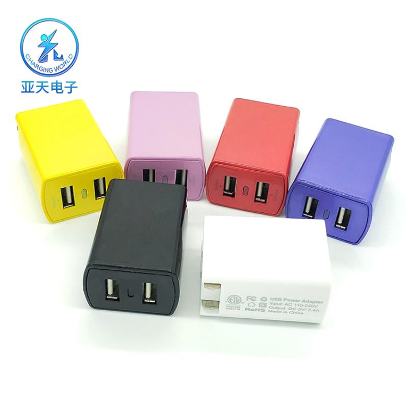 亞天私模 美國認證電源充電器UL認證 雙USB電源