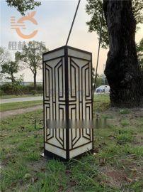 仿雲石柱頭燈電鍍草坪燈不鏽鋼落地燈防水戶外草坪燈