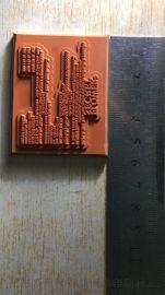 高品质复杂精细线条硅胶烫金版制作