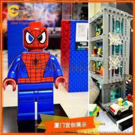 Q版蜘蛛侠公仔  玻璃钢雕塑造型  喷绘