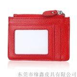 卡套卡包 防RFID 防盜刷卡套頭層牛皮卡包零錢包