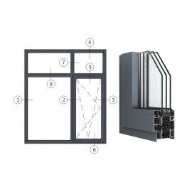 广东兴发铝材创高AL7535A系列内开内倒窗