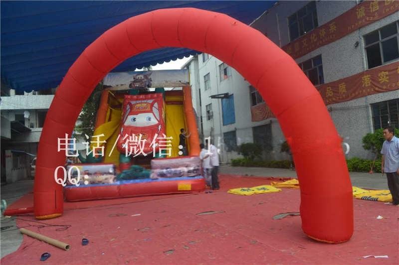 广州经典全红半圆充气彩虹拱门