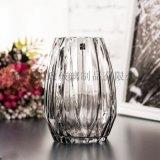 歐式簡約花瓶豎棱條紋花瓶客廳裝飾花瓶高款高檔花瓶