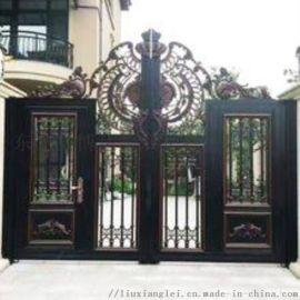 宁波江北区别墅庭院大门草坪绿化护栏