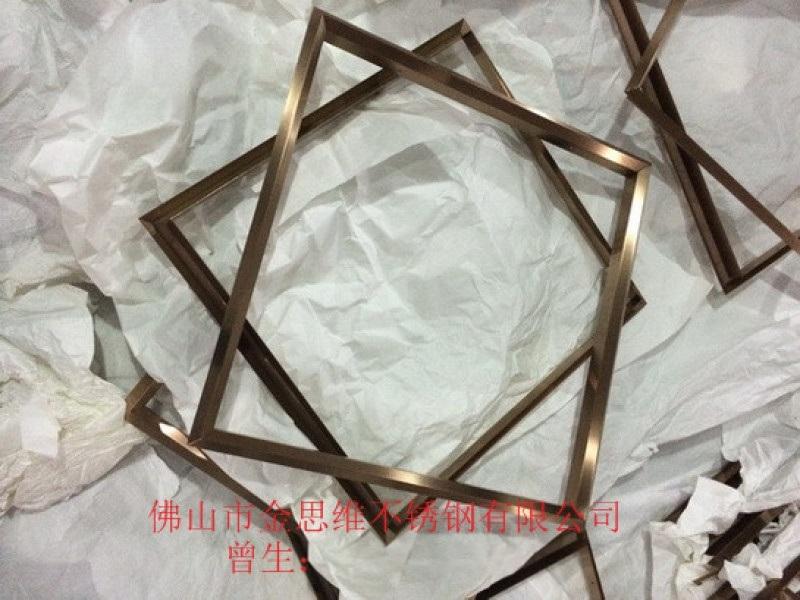 玫瑰金不鏽鋼相框定製 不鏽鋼異形畫框生產加工