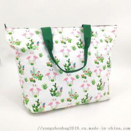 印花帆布手提购物袋