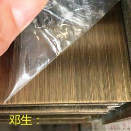 贵州304不锈钢青古铜板,拉丝不锈钢青古铜板加工