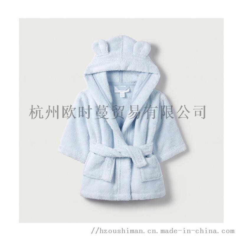 兒童純棉浴袍嬰幼兒家居服全棉毛巾料浴衣睡袍