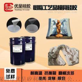 耐高温模具硅胶树脂工艺品模具硅胶高透明优呈