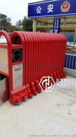龙江伸缩门厂家,龙江电动门安装,工厂不锈钢伸缩门
