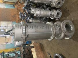 耐强酸强碱排污潜水泵 WQP304全不锈钢泵