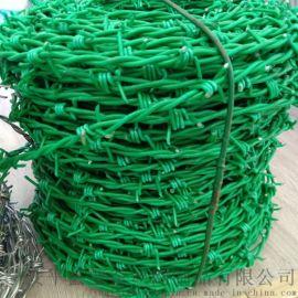 浸塑刺绳 铁蒺藜规格 工业厂区安全防护刺网现货