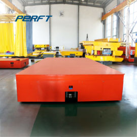 蓄电池轨道平车 汽车生产线50吨转弯胶轮电动平板车